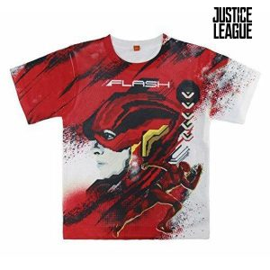 Camisola de Manga Curta Infantil Justice League 2221 | Produto Licenciado!