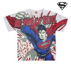 Camisola de Manga Curta Superman 8088 | Produto Licenciado!