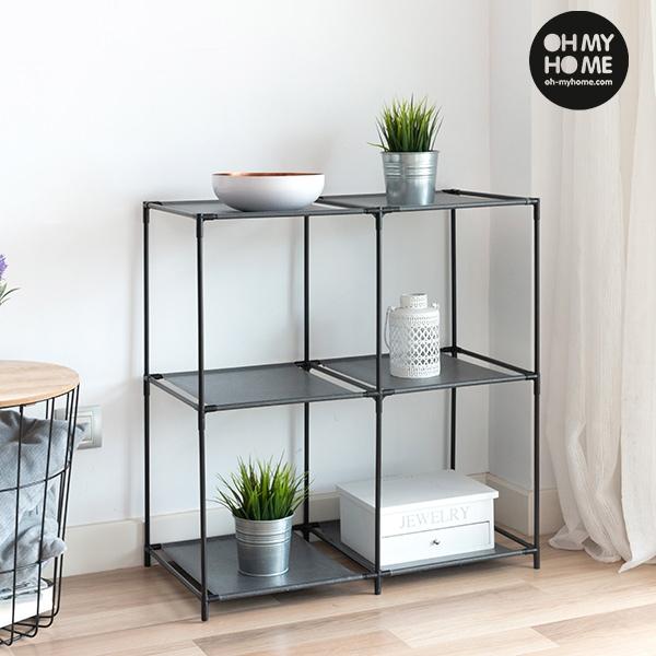 estante de metal oh my home 6 prateleiras you like it. Black Bedroom Furniture Sets. Home Design Ideas