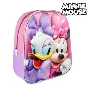 Mochila Escolar 3D Minnie Mouse 8058 | Produto Licenciado!