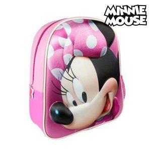Mochila Escolar 3D Minnie Mouse 8096 | Produto Licenciado!
