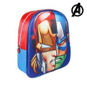 Mochila Escolar 3D The Avengers 7945 | Produto Licenciado!