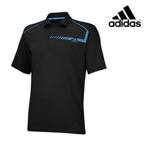 Adidas® Polo Chest Print Golf Vermelho | Tecnologia Climachill®
