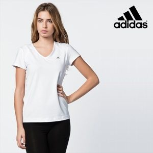 Adidas® T-Shirt Performance Essentials Branco | Tecnologia Climalite®