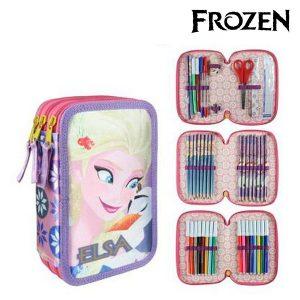 Estojo Triplo Frozen 8546 Lilás | Produto Licenciado!