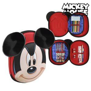 Estojo Triplo Mickey Mouse 58393 Vermelho | Produto Licenciado!