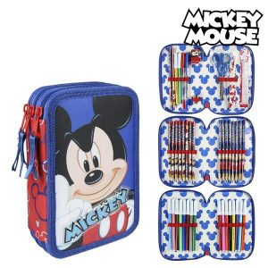 Estojo Triplo Mickey Mouse 58577 Vermelho | Produto Licenciado!