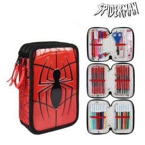 Estojo Triplo Spiderman 8492 Vermelho | Produto Licenciado!