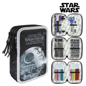 Estojo Triplo Star Wars 58515 Preto | Produto Licenciado!