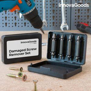 Conjunto de 4 Brocas para Extrair Parafusos Danificados Home Tools