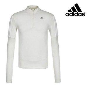 Adidas® Camisola Running Zip White | Tecnologia Climalite®