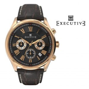 Relógio Executive® Blazer Leather EX-1005-16