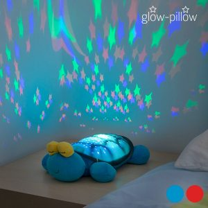 Brinquedo de Peluche Com Projector LED Glow Pillow