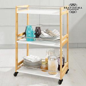 Carrinho de Cozinha de Bambu Bravissima Kitchen