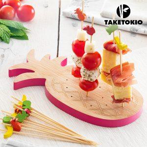 Conjunto de Bambu Para Tapas Ananás Take Tokio | 16 Peças