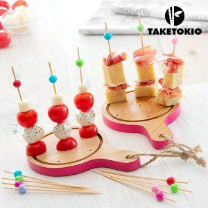 Conjunto de Bambu Para Tapas Mini Tábuas TakeTokio | 16 Peças