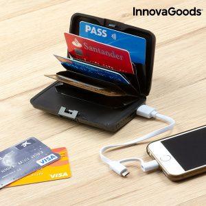 Porta-Cartões de Segurança e Power Bank 1800 mAh