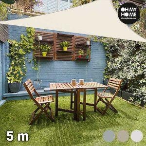Toldo Vela Triangular Ambiance Oh My Home | 5 Metros | Disponível em 3 Cores!