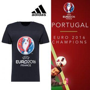 Portugal Campeão Europeu | Adidas® T-Shirt Euro 2016 Júnior