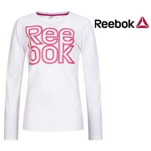 Reebok® Camisola Branca | Rosa Júnior