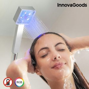 Eco-Chuveiro LED Com Sensor de Temperatura Square Home Houseware