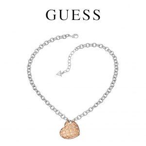 Guess® Colar Heart Rose Gold UBN51437