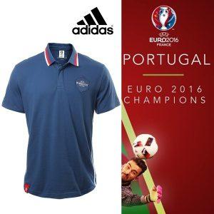 Portugal Campeão Europeu | Adidas Polo Uefa Euro 2016 Blue | Tamanho L