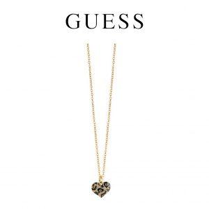 Guess® Colar Leopard Heart Gold