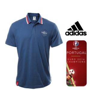 Portugal Campeão Europeu | Adidas Polo Uefa Euro 2016 Blue | Tamanho S