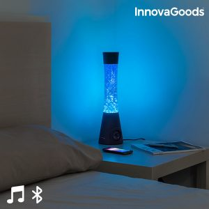 Candeeiro de Lava Com Altifalante Bluetooth e Microfone Home LED