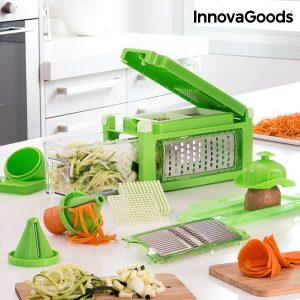 Cortador e Ralador de Legumes 8 em 1 Com Livro de Receitas Kitchen Foodies