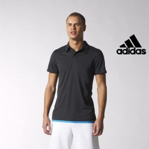 Adidas® Polo Uncontrol Preto | Tecnologia Climachill®