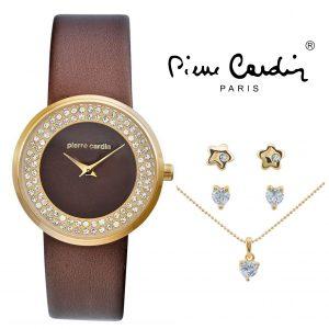 Conjunto Pierre Cardin® Women's PCX5404L229 | Relógio | Colar | 4 Brincos