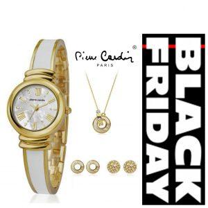 TOP PREÇO BLACK FRIDAY Conjunto Pierre Cardin® Women's Relógio | Colar | 4 Brincos