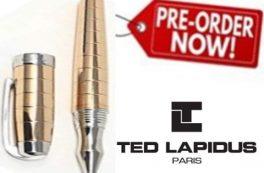 PRÉ VENDA Desconto Extra Canetas Ted Lapidus Paris®