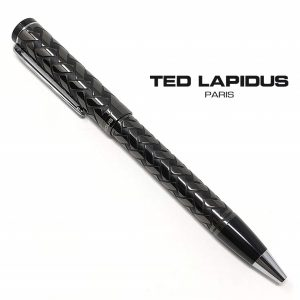Caneta Ted Lapidus Paris® S5601403 | Retractable Ballpoint Pen Black and Chrome