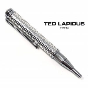 Caneta Ted Lapidus Paris® S5601201 | Telescopic Pen Chrome Guilloche Finish