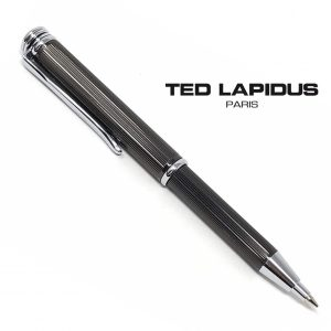 Caneta Ted Lapidus Paris® S5601203 | Telescopic Pen Black Guilloche Lined Finish