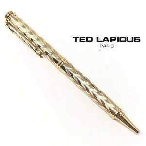 Caneta Ted Lapidus Paris® S5601501D | Retractable Ballpoint Ion Plated Gold Engraved Body