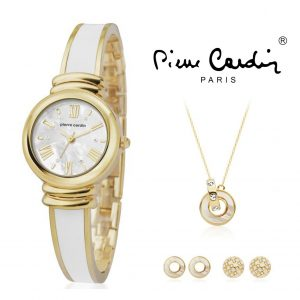 Pierre Cardin® Women's Set PCX6006L256 | Watch | Necklace | 4 Earrings