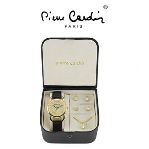 Conjunto Pierre Cardin® PCX4700L209 | Relógio | Colar | 2 Pares de Brincos