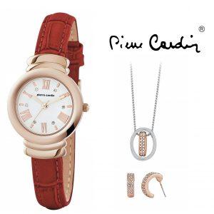 Conjunto Pierre Cardin® PCX6571L292 | Relógio | Colar | 1 Par de Brincos