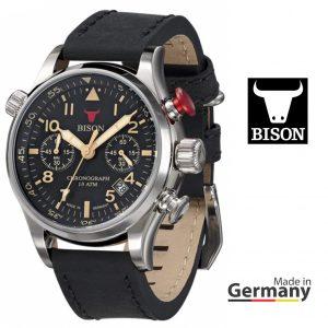 Relógio Bison®Made in  Germany BI0007BK