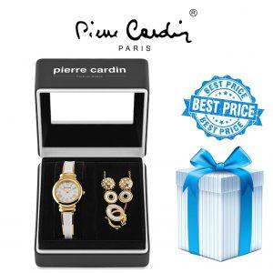 Conjunto Pierre Cardin® Women's Relógio | Colar | 4 Brincos