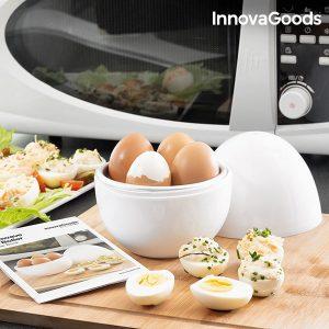 Cozedor de Ovos Para o Micro-Ondas com Livro de Receitas Boilegg Kitchen Foodies