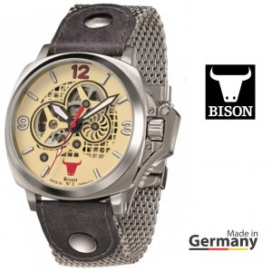 Relógio Bison®Made in  Germany BI0003CRMB
