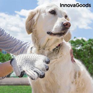 guante para cepillar y masajear mascotas InnovaGoods Home Pet