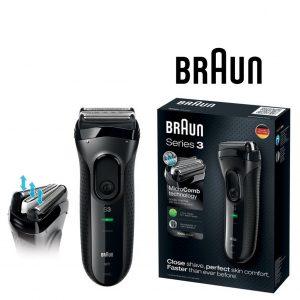 Máquina de Barbear Braun 3000S Series 3 Preto