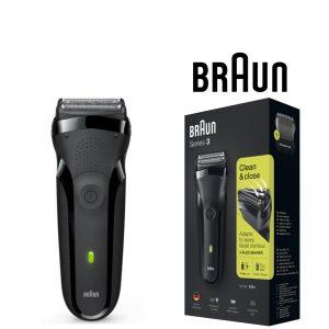 Máquina de Barbear Braun 300S Serie 3 Preto
