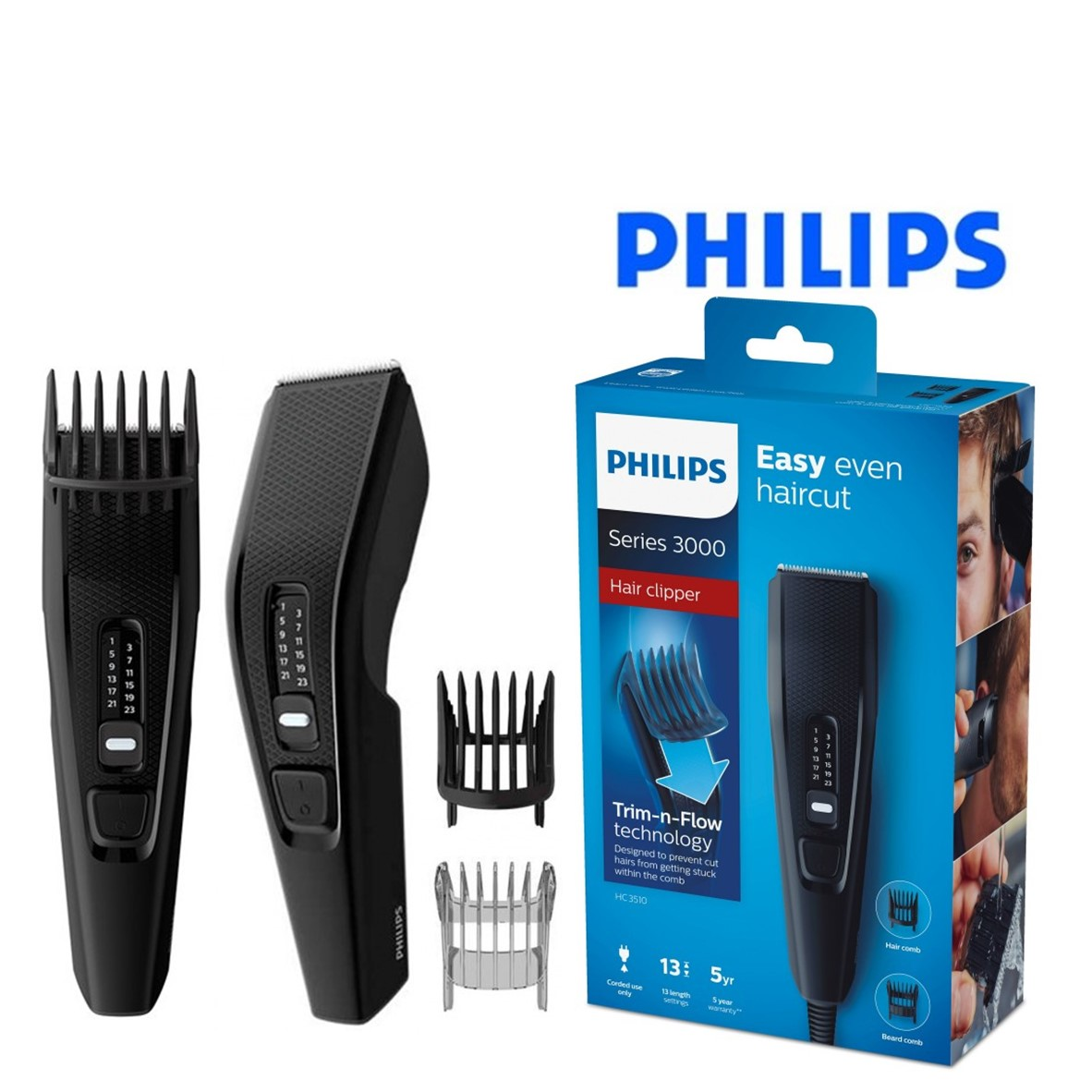 Cortapelos Philips HC3510 15 Negro - You Like It fdcb656b4390